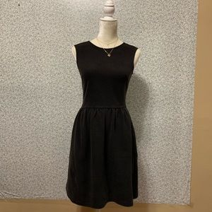 ❤️LOFT Black Cotton Scoop Fit&Flare Mini Dress 2❤️